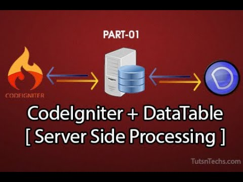 Part01- Jquery DataTable with CodeIgniter Using Server Side Processing thumbnail
