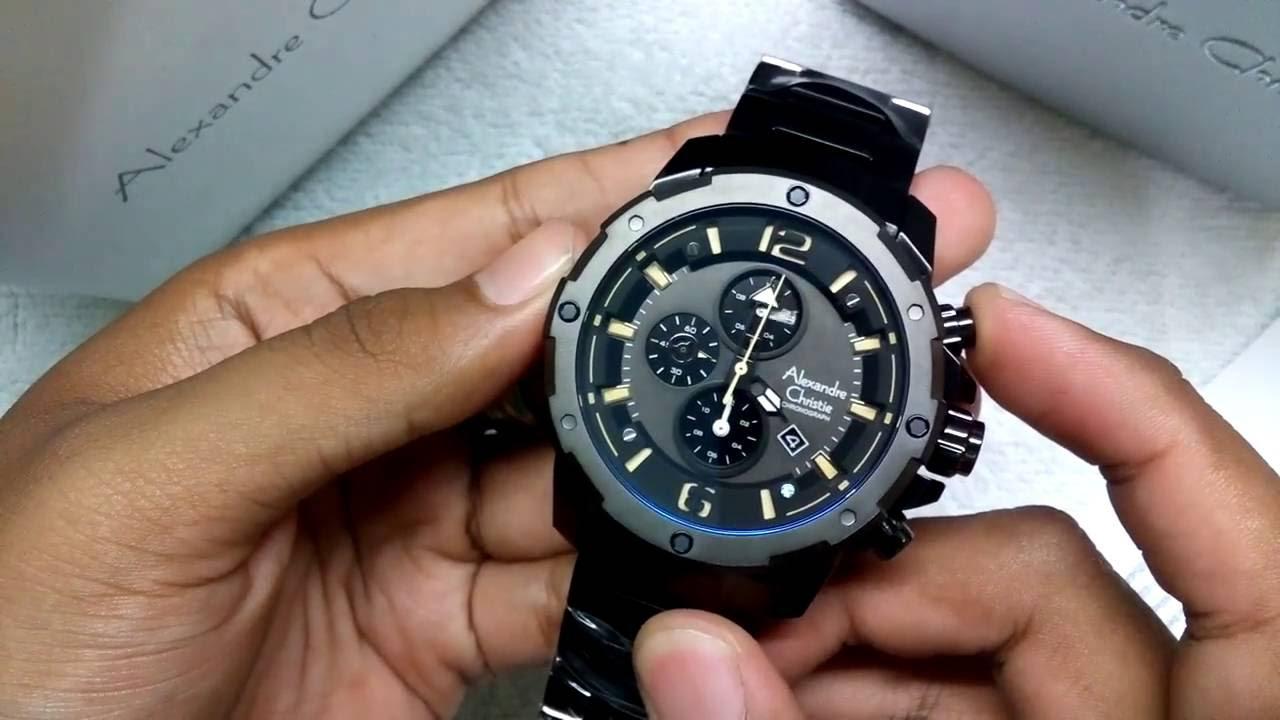 Jam Tangan Cowok Alexandre Christie Mens Watches Ac 6410 Original 6141 Mc Black Rose Gold