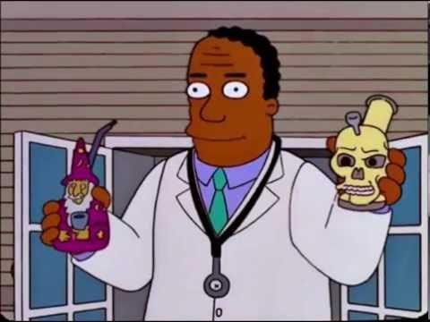 Homero Fuma Marihuana medicinal - Los Simpson