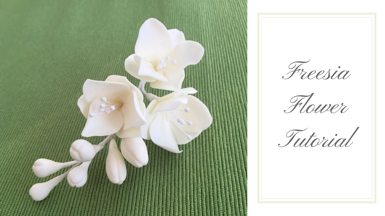 How To Make A Freesia Flower Ilona Deakin At Tiers Of Happiness