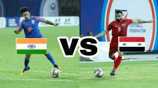 india vs syria football match// hero IC 2019 // syria vs india