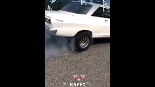 65 Chevy II Nova burnout