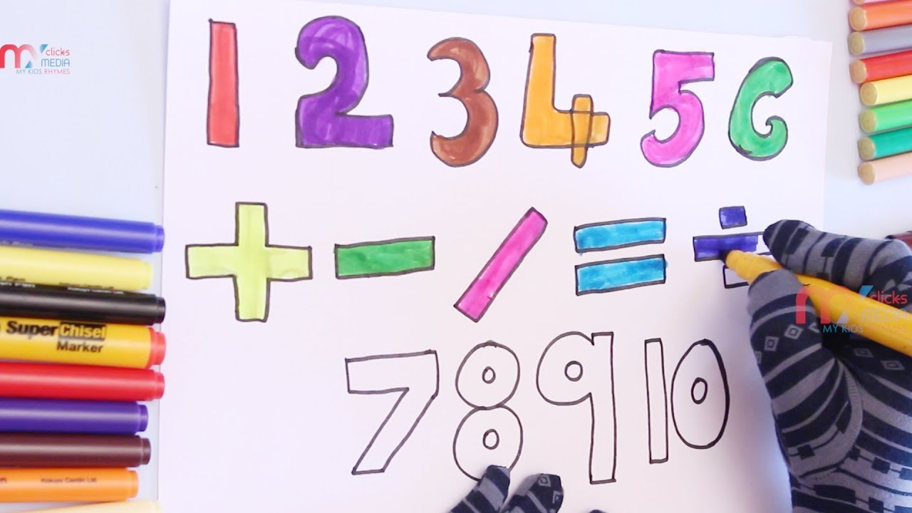 Drawing numbers and coloring mathematical symbols for kids my kids drawing numbers and coloring mathematical symbols for kids my kids rhymes biocorpaavc Gallery
