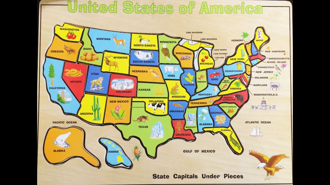 fun solving the united states map wood puzzle   melissa