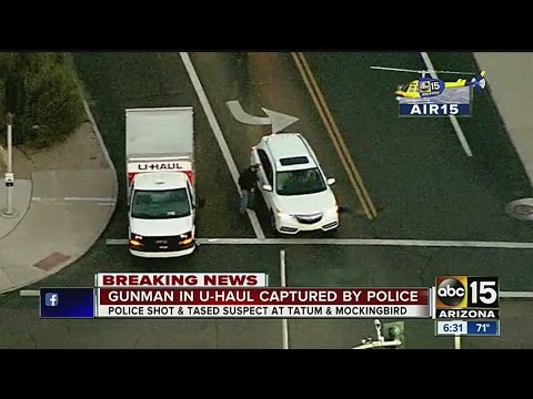 Gunman taken down by police after pursuit in U-Haul truck