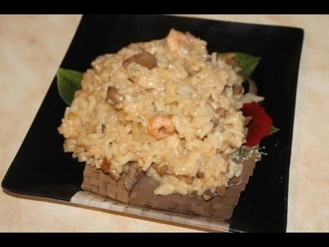 Ризотто с креветками/Risotto with shrimp