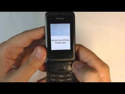 Nokia C2-05 - How to reset - Como restablecer datos de fabrica