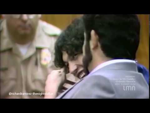 Richard Ramirez Laughing In Court.