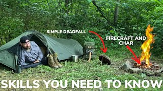 Solo Overnight Bushcraft Skills Testing The Snugpack Ionosphere and Stuffed Bacon and Cheese Biscuit