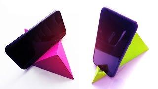 Base para Celular de Papel - Origami | Manualidades - DIY