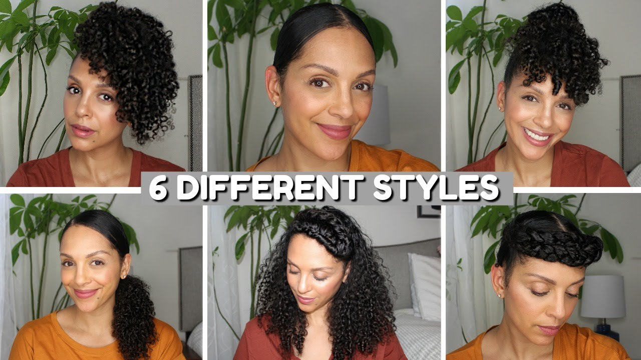 Curly Hairstyles To Hide Thin Edges 6 Different Styles Youtube