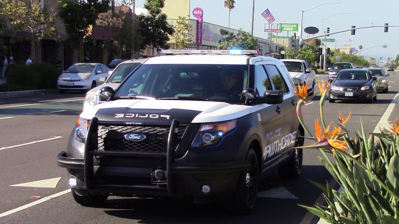 hawthorne police ford explorer priority siren youtube
