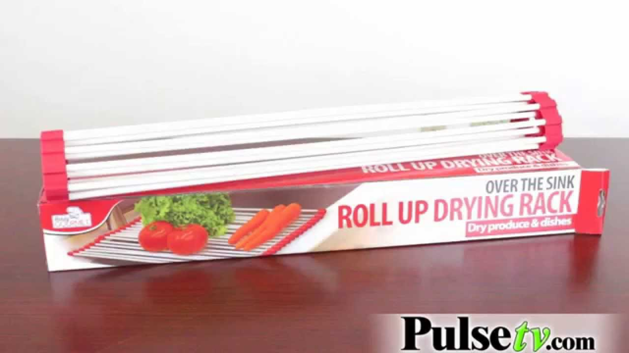 Over The Sink Roll Up Drying Rack   YouTube