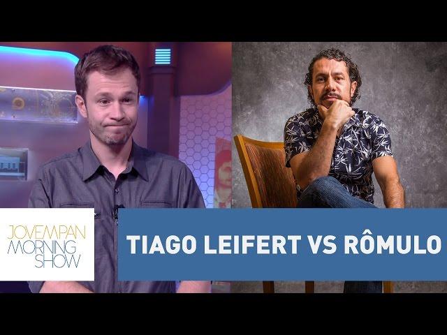 """Tiago Leifert e Rômulo tem discussão """"quente"""" em Paredão do BBB 17   Morning show"""