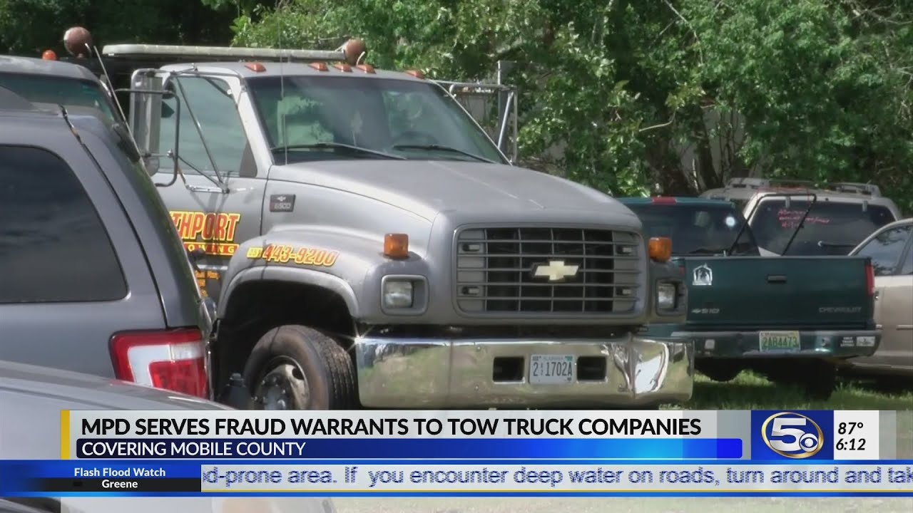 Mobile Police execute search warrants on towing companies