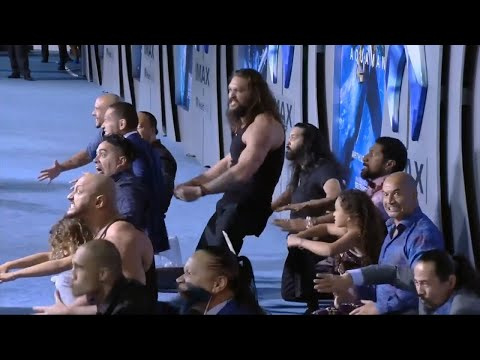 Jason Momoa Performs Haka At 'Aquaman' Premiere