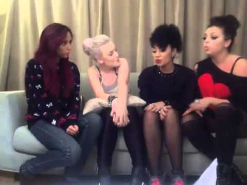 Little Mix singing DNA acapella live on Ustream (24/10/12)