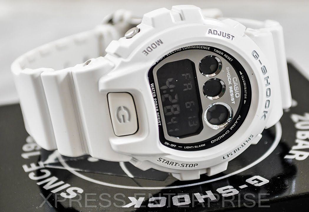 Casio GSHOCK DW6900NB 7 REVIEW | How To Set Time | LIGHT DISPLAY