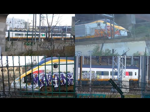 Taking a Look at ex-SNCF TGV TMST North of London half set 3304 in Paris - 25/10/17 & 21/03/18