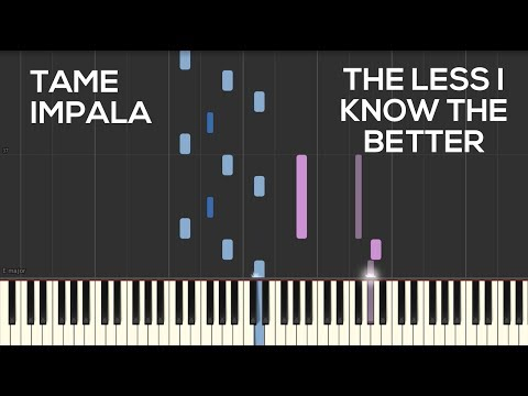 Tame Impala - The Less I Know The Better (Piano Cover) | Synthesia