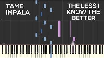 Tame Impala - The Less I Know The Better (Piano Cover)   Synthesia