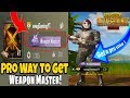 HOW TO GET WEAPON MASTER IN PUBG MOBILE SEASON 3 -EASILY IN HINDI 2018
