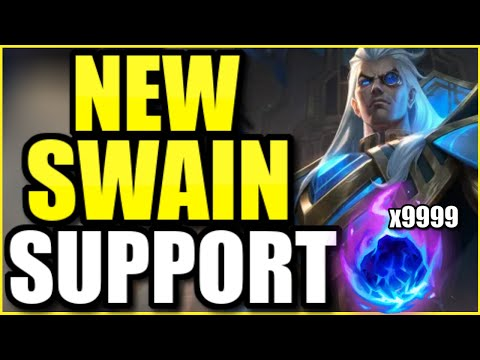 This NEW Swain support build gives them ZERO chance at counterplay… (MAXIMUM POKE)