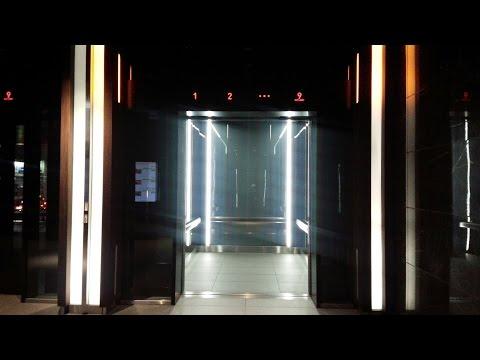 【ダイナミックな乗場】三菱エレベーター グランフロント大阪 オフィスタワーA シャトル