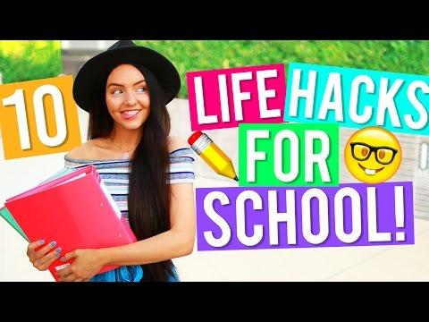 10 Back to School Life Hacks! 2016! Easy Life Hacks + DIY Life Hacks You Need To Try!