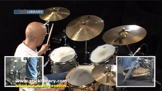 John Bonham - Good Times Bad Times Drum Lesson With Pete Riley Sticklibrary.com