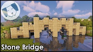 Minecraft Simple Stone Bridge Tutorial Youtube