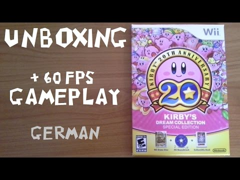 Kirby's Dream Collection - Unboxing + 60fps-Gameplay! (US-Version) [German]
