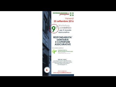 23 settembre 2016 - Responsabilità Sanitaria e Coperture Assicurative