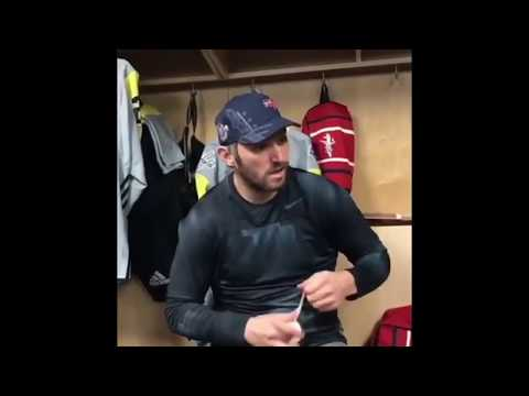 Alexander Ovechkin Taping Stick Before NHL All Star Game Festivities - January 28, 2018