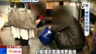 (中天新聞)2011 04 08 直擊釣蝦場~檢驗蝦子是否加藥~ thumbnail