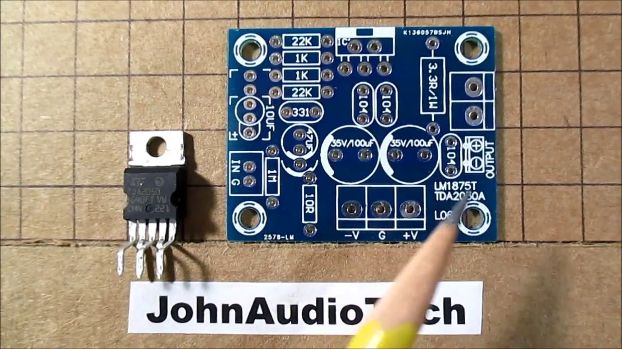 TDA2050 audio amplifier IC test & review plus compared to the LM1875