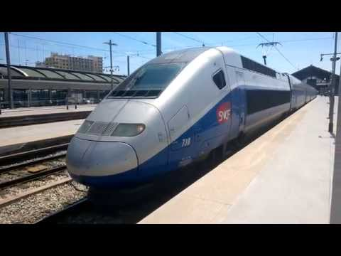 TGV Duplex Train departing Marseille Saint-Charles Station