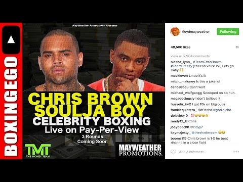 FLOYD MAYWEATHER POSTS CHRIS BROWN VS SOULJA BOY FLYER PROMOTED MAYWEATHER PROMOTIONS 50 CENT SPEAKS