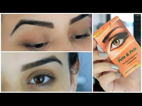 Como Tirar E Desenhar A Sobrancelha Com Henna Tutorial Eyebrow