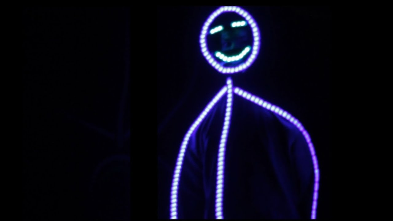 Stickman Led Suit With Face Youtube