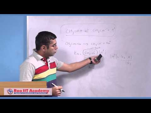 Buffer Solution - IIT JEE Main and Advanced Chemistry Video Lecture