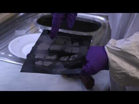 Forensic Science - dusting for footprints at a crime scene
