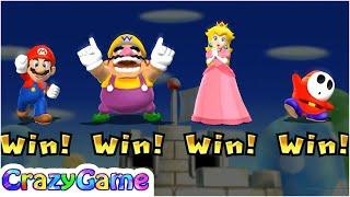 Mario Party 9 Step It Up - Mario vs Wario vs Peach vs Shy Guy Master CPU Gameplay