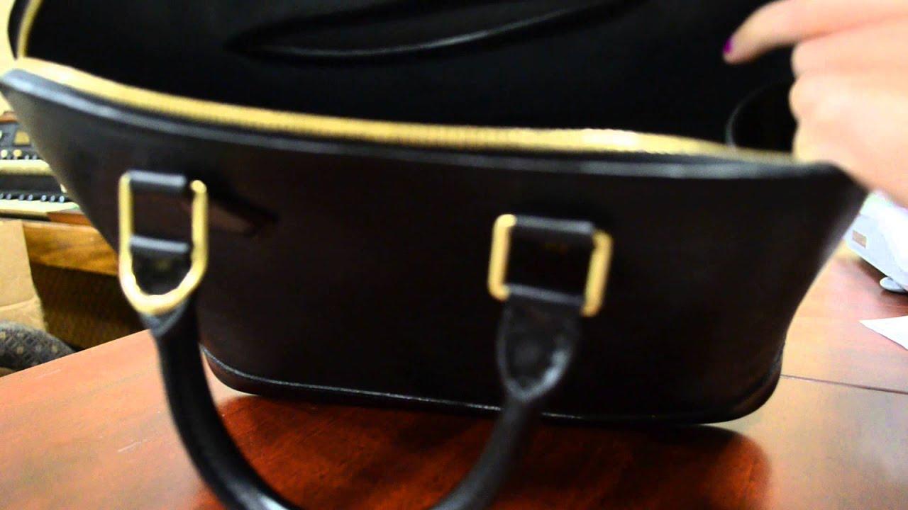 Pre-owned Authentic Louis Vuitton Alma PM Black Epi Leather Handbag ... 1768f12d8276d