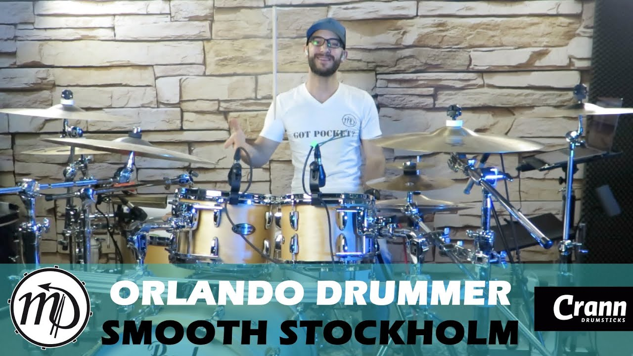 Orlando Drummer - Smooth Stockholm - Drum Cover Drumeo (Electro) PEARL Maple Gum