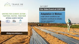 Adaptation in Motion - Side Event at COP23