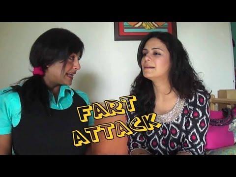 Funniest Video Ever - (Fart attack)   - Chutki  interviews Mona Singh ( Jassi )