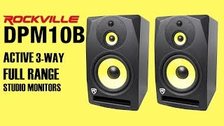 The Rockville DPM10B is the CRAZY Full Range Monitor we've been waiting for (listen at own risk)
