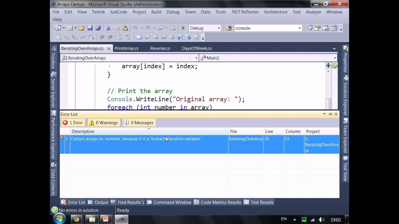 Introduction to Programming with C# / Java Books » work with