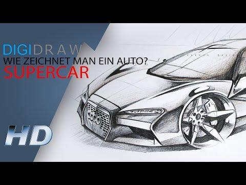 Wie zeichnet man ein Auto? Supercar HD